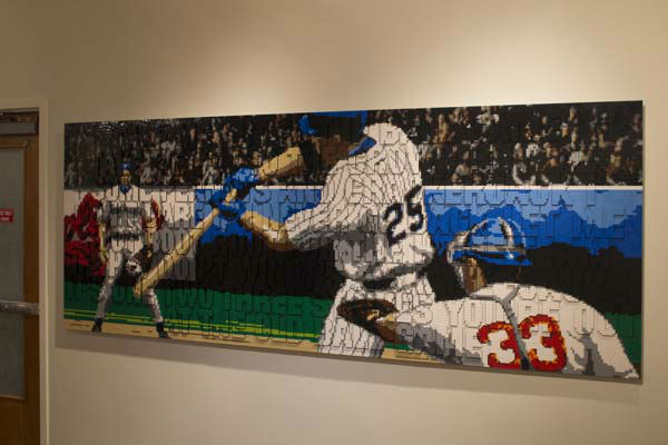 A Take Me Out To the Ball Park mural has 55,269 Lego bricks.   <span class=meta>(Photo&#47;James Moses)</span>